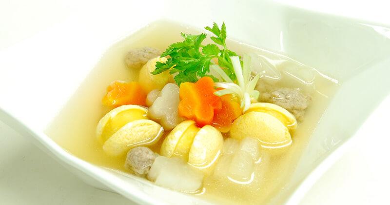 ゲーンジュート・ルークローク(ルークロークのスープ)แกงจืดลูกรอก
