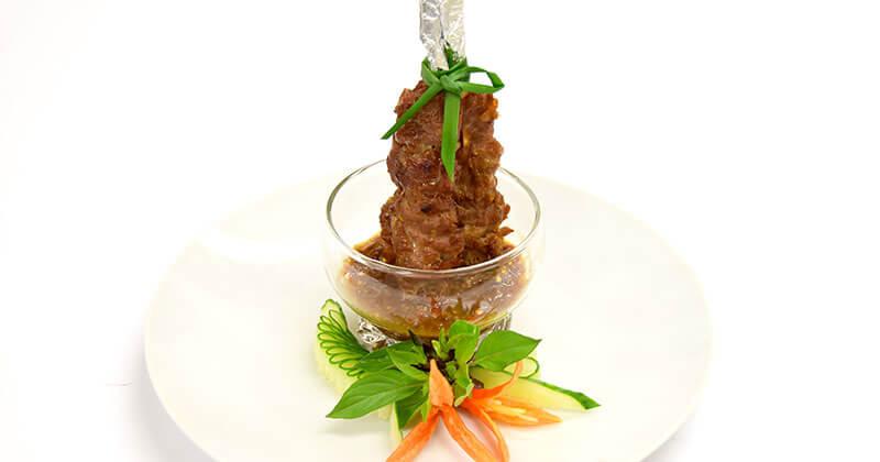 ムー・ピン・プラーラー(プラーラーだれの豚串焼き)หมูปิ้งปลาร้า